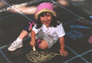 Chalk on the Walk 2001 - Girl
