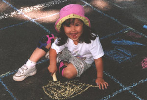 Chalk on the Walk 2001 - Girl